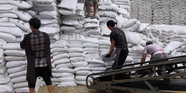 9月12日河北石家庄曹总33吨水处理絮凝剂英文包装聚合氯化铝发货现场
